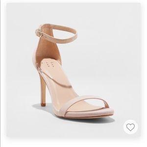 Gillie Stiletto Heeled Microsuede Pump Sandals